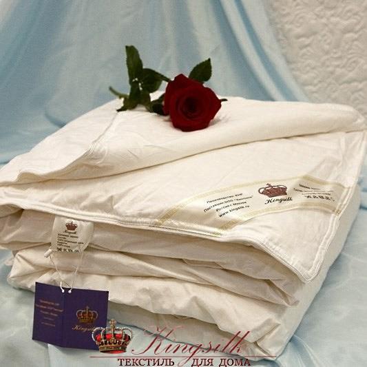Элит 150*200 1 кг Шелковое одеяло Kingsilk Elisabette Элит E-150-1-Bel белое всесезонное - фото 25126