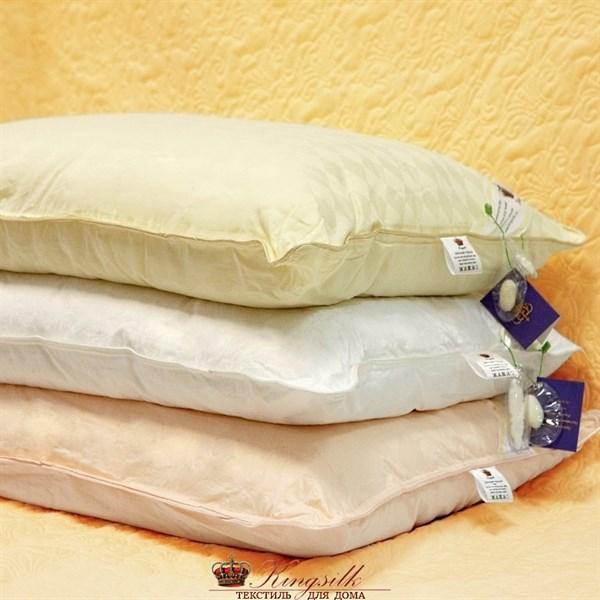 Элит 50*70 1,5 кг Шелковая подушка Kingsilk Elisabette Элит E-A50-1,5-Bel белая - фото 25311