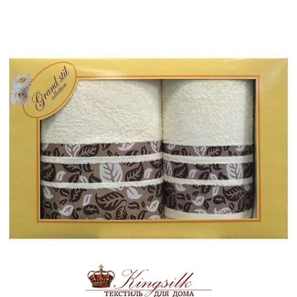 Набор полотенец Grand Stil Листопад кремовый - фото 27162