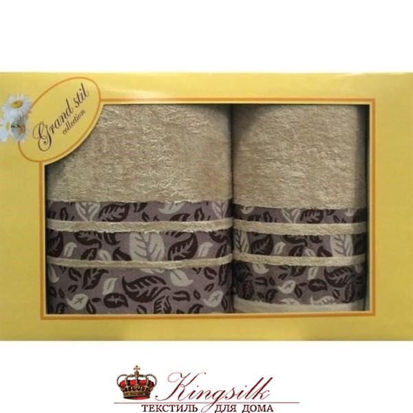 Набор полотенец Grand Stil Листопад какао - фото 27163