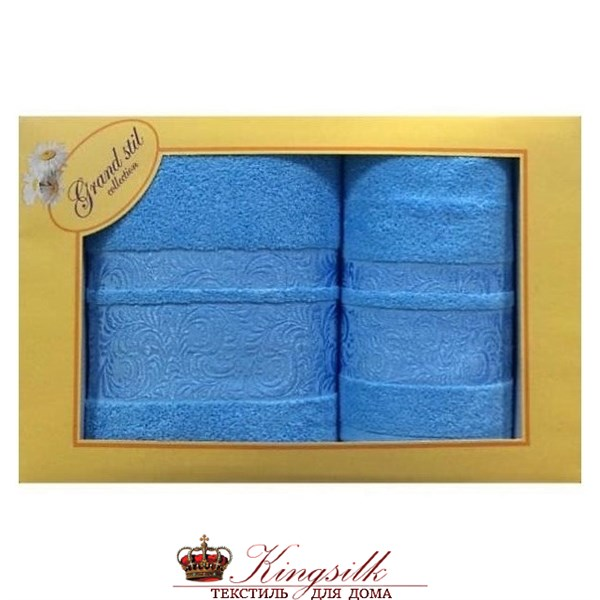 Набор полотенец Grand Stil Мидея голубой - фото 27172