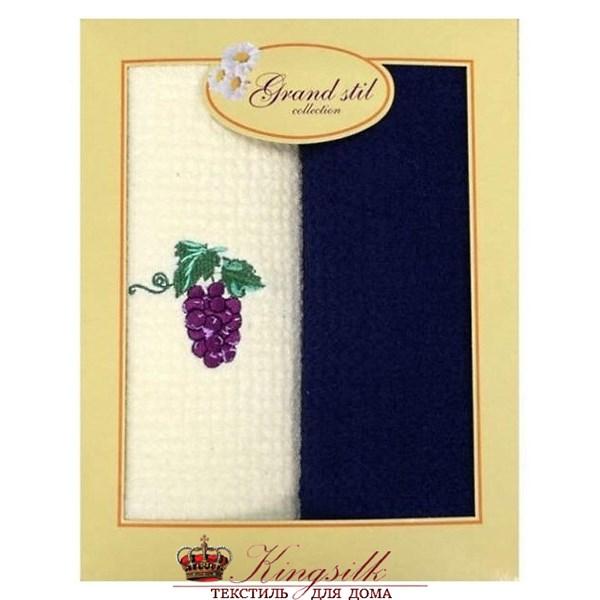 Набор полотенец Grand Stil Виноград синий - фото 27193