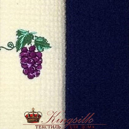 Набор полотенец Grand Stil Виноград синий б/к - фото 27195