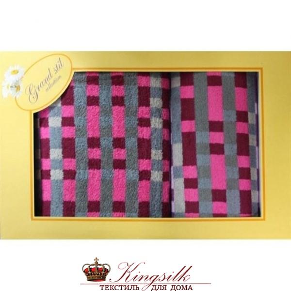 Набор полотенец Grand Stil Пиксели красный - фото 27252