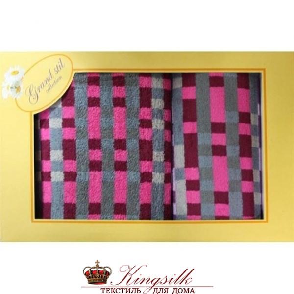 Набор полотенец Grand Stil Пиксели красный - фото 27253