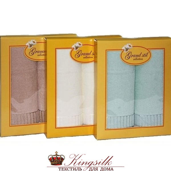 Набор полотенец Grand Stil Соло кремовый - фото 27264