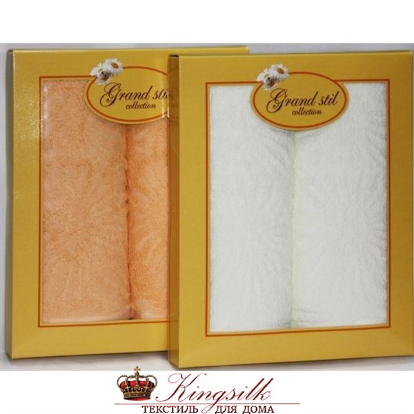 Набор полотенец Grand Stil Софи кремовый - фото 27268