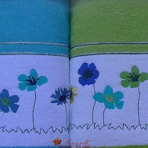 Набор полотенец Korona Style Полянка салатовый - фото 27280