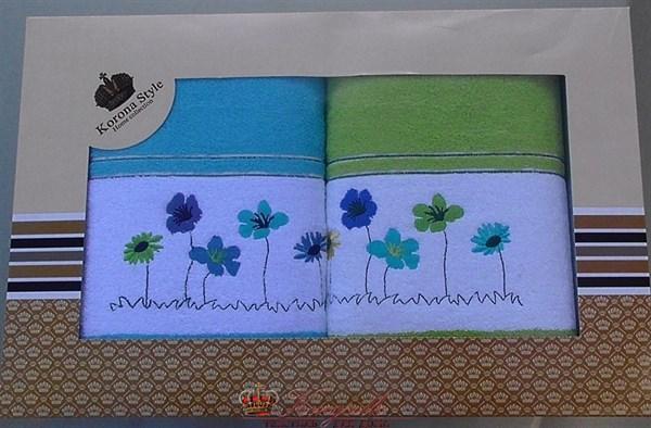 Набор полотенец Korona Style Полянка салатовый - фото 27283