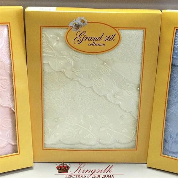 Набор полотенец Grand Stil Жемчужное крем 2 шт. - фото 27288