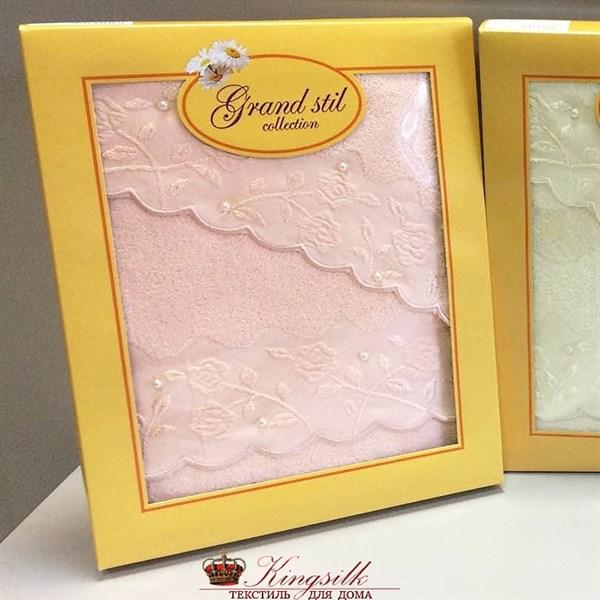 Набор полотенец Grand Stil Жемчужное персиковый 2 шт. - фото 27292