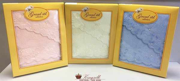 Набор полотенец Grand Stil Жемчужное персиковый 2 шт. - фото 27294