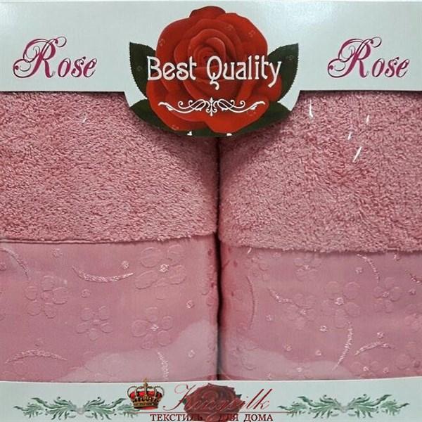 Набор полотенец Korona Style Диана темно-розовый - фото 27324