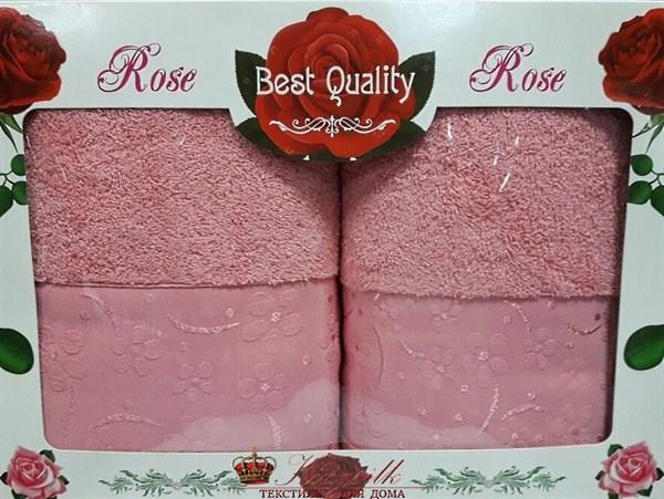 Набор полотенец Korona Style Диана темно-розовый - фото 27325