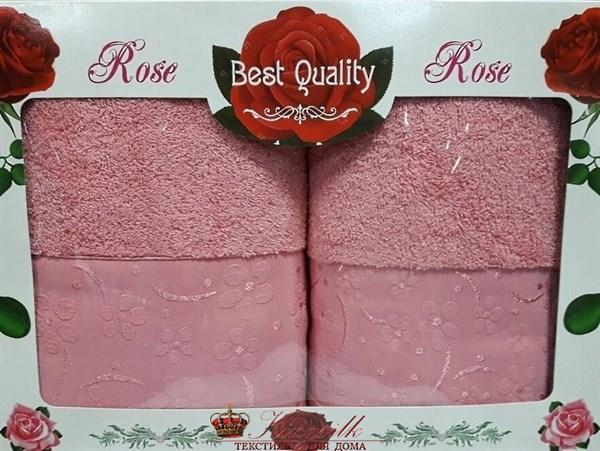 Набор полотенец Korona Style Диана темно-розовый - фото 27327