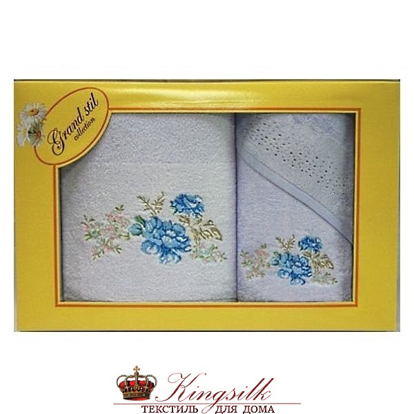 Набор полотенец Grand Stil Виола голубой - фото 27379