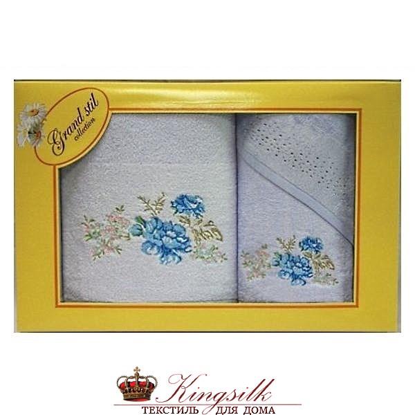 Набор полотенец Grand Stil Виола голубой - фото 27380