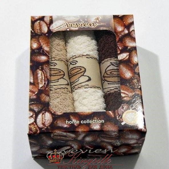 Набор полотенец Vevien Pol-65-1 Кофе - фото 29851