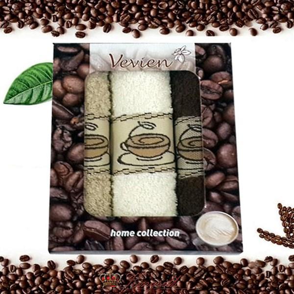 Набор полотенец Vevien Pol-65-1 Кофе - фото 29852