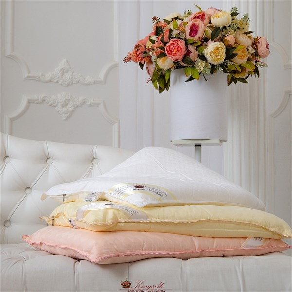 Элит 50*70 1 кг Шелковая подушка Kingsilk Elisabette Элит E-A50-1-Per персиковая - фото 31940