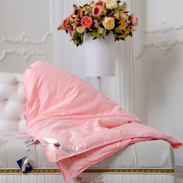 Элит 150*210 1 кг всесезонное одеяло Kingsilk Elisabette E-150-1-Roz - фото 32000