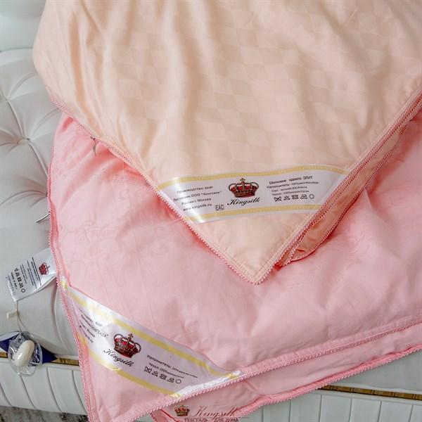 Элит 200*220 1,3 кг Шелковое одеяло Kingsilk Elisabette Элит E-200-1,3-Per персиковое всесезонное - фото 32013