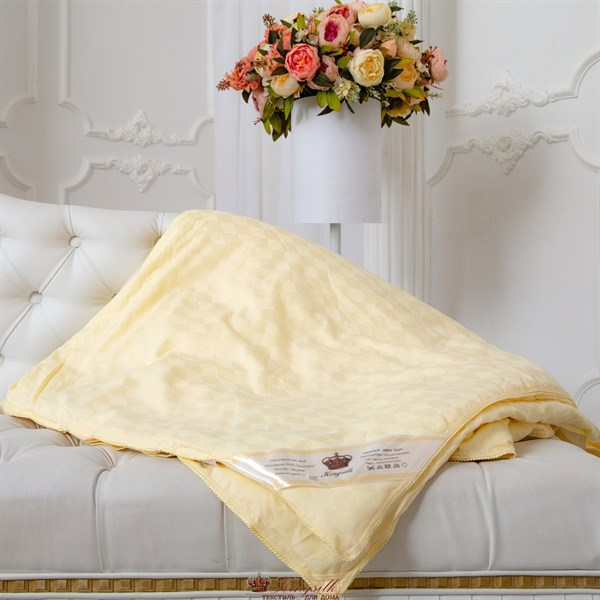 Люкс 200*220 1,3 кг всесезонное одеяло Kingsilk Elisabette L-200-1,3-Bej - фото 32057