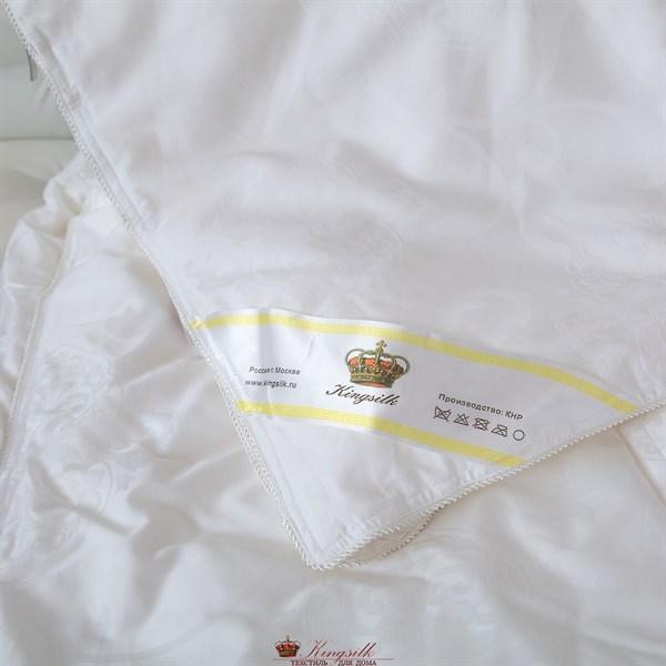 Элит 150*200 1 кг Шелковое одеяло Kingsilk Elisabette Элит E-150-1-Bel белое всесезонное - фото 32090