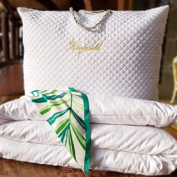 Premium 170*205 1 кг Всесезонное одеяло Kingsilk Премиум белое - фото 34511