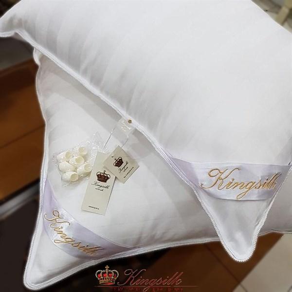 70*70 1,5 кг Mulberry AA Подушка Kingsilk Premium белая - фото 34549