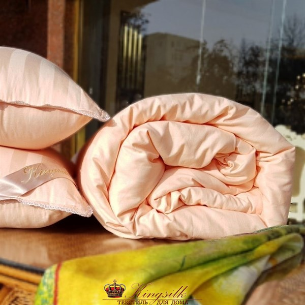 Premium 200*220 1,3 кг Всесезонное одеяло Kingsilk Премиум персиковое - фото 34567