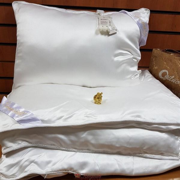 Luxury 200*220 1,3 кг Всесезонное одеяло Kingsilk Лакшери белое, шелк в шелке, съемный чехол - фото 34606