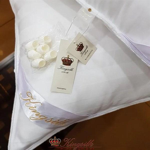 Всесезонное одеяло Kingsilk Premium 150*210 1 кг голубое - фото 34671