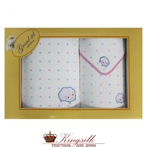 Набор полотенец детский Grand Stil Ладушки розовый