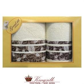 Набор полотенец Grand Stil Листопад кремовый