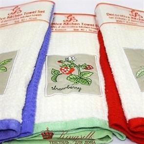 Набор полотенец Grand Stil Малина аппликация б/к - фото 27217