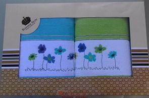 Набор полотенец Korona Style Полянка салатовый - фото 27281
