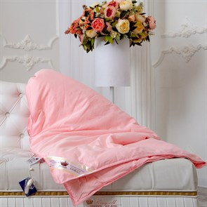 Элит 140*205 0,9 кг Шелковое одеяло Kingsilk Elisabette Элит E-140-0,9-Roz розовое всесезонное