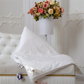 Элит 172*205 1 кг Шелковое одеяло Kingsilk Elisabette Элит E-172-1-Bel белое всесезонное