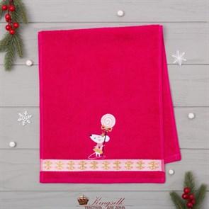 Полотенце Этель Мышь розовое - фото 32976