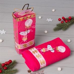 Полотенце Этель Мышь розовое