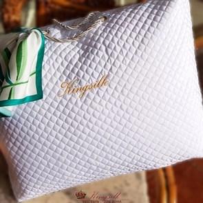 Luxury 200*220 1,3 кг Всесезонное одеяло Kingsilk Лакшери белое, шелк в шелке, съемный чехол - фото 34534