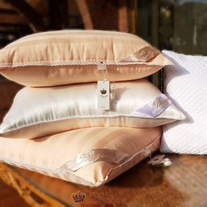 50*70 1,5 кг Mulberry AA Подушка Kingsilk Premium персиковая
