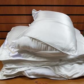 Luxury 200*220 1,3 кг Всесезонное одеяло Kingsilk Лакшери белое, шелк в шелке, съемный чехол - фото 34607