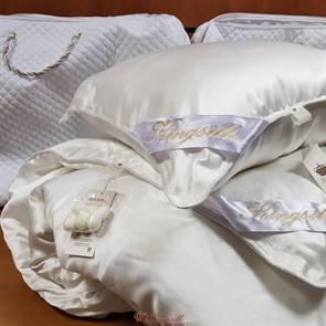 Luxury 200*220 1,3 кг Всесезонное одеяло Kingsilk Лакшери белое, шелк в шелке, съемный чехол - фото 34608