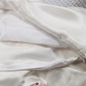 Luxury 200*220 1,3 кг Всесезонное одеяло Kingsilk Лакшери белое, шелк в шелке, съемный чехол - фото 34609