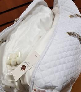 Luxury 200*220 1,3 кг Всесезонное одеяло Kingsilk Лакшери белое, шелк в шелке, съемный чехол - фото 34610